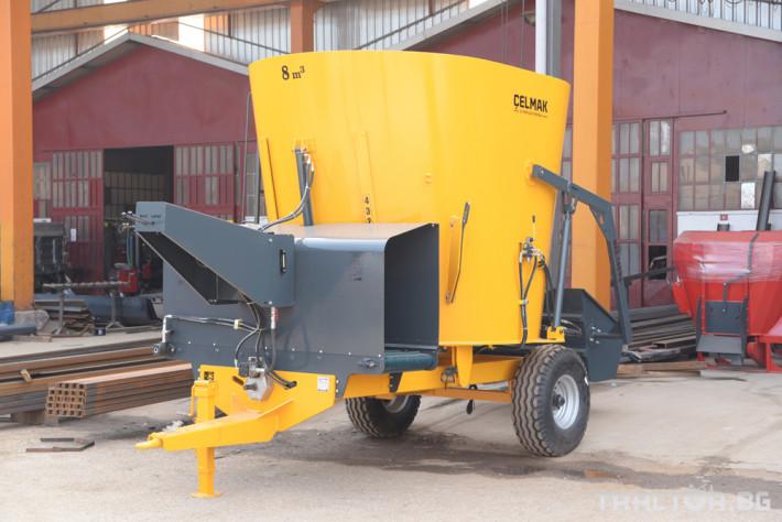 Машини за ферми Фуражо-раздаващо ремарке Celmak 2 - Трактор БГ